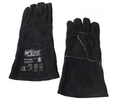 Перчатки замшевые Werk WE2127 чёрные