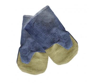 Перчатки с двойным брезентовым наладон. Укрпром 50001 белые (65887)