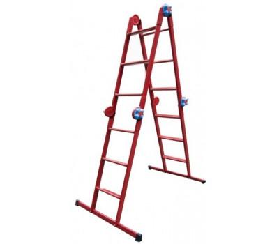 Шарнирная лестница Метал 4х3