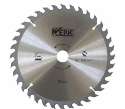 Круг пильный Werk 24 зубцов по дереву 115x22.23 мм (WE109101)