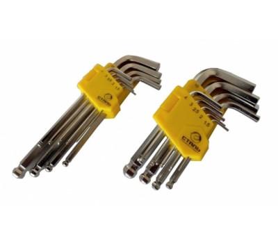 Набор ключей Сталь НЕХ Г-образные 9 предмета (48102)