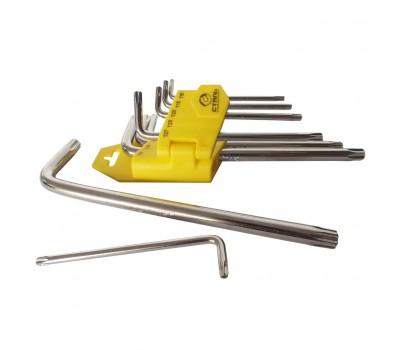 Набір ключів Сталь TORX Г-подібні 9 предметів (48106)