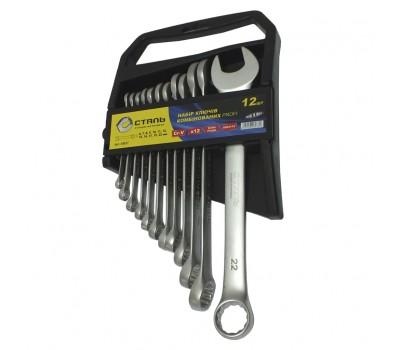 Набір ключів комбінованих Сталь 12 предметів (48037)