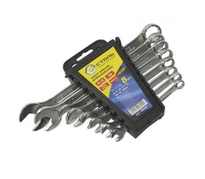 Набор ключей комбинированных Сталь 8 предмета (48040)