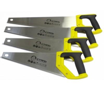 Ножовка по дереву Сталь 40101 з двухкомпонентной ручкой 400 мм (40439)
