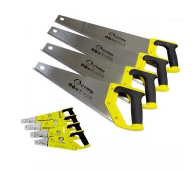 Ножовка по дереву Сталь 40102 з двухкомпонентной ручкой 450 мм (40440)