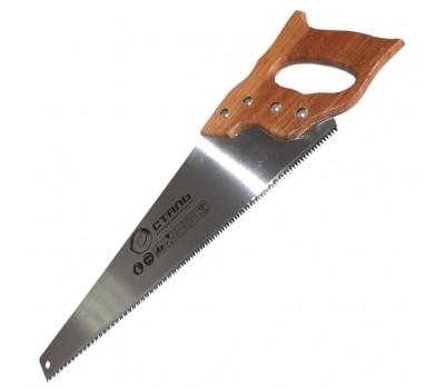 Ножівка по дереву Сталь 40111 з дерев'яною ручкою 450 мм (62530)