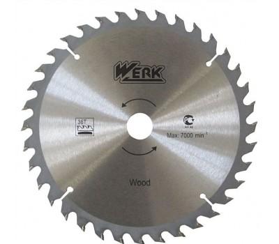 Круг пиляльний Werk 40 зубців по дереву 185x20 мм (WE109146)