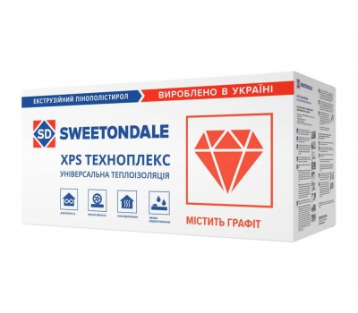 Пінополістирол екструдований Sweetondale Техноплекс 40 мм (1,1 x 0,55 м)