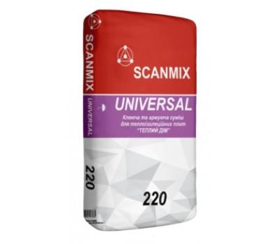 Клей для утеплителя Scanmix Universal 220 25 кг